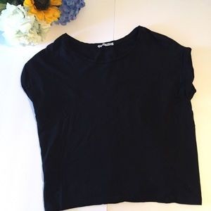 Zara wb collection black cropped top. Size small
